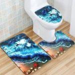 Оригинал Комплект фланелевой сатинировки Комплект для туалетной бумаги Non Slip Ванная комната Подводный коврик для ковров на ковре