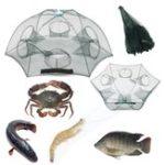 """Оригинал ZANLURE37""""4/6/8/12/14ОтверстияАвтоматическаяскладывающаяся Рыбалка Чистая клетка для креветок для крабов Рыбная ловушка Cast Net"""
