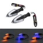 Оригинал 12V 2Pcs мотоцикл LED Боковые индикаторы поворота поворота Направленный поворот Лампа Индикаторы