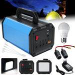 Оригинал Портативный 144W Солнечная Powered System Инвертор питания Источник энергии Источник Солнечная Генератор На открытом воздухе Силовая система