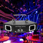 Оригинал DMX 4 Len RGB Шаблон Beam Network Лазер Light Home Party DJ KTV Stage Lighting