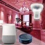 Оригинал GU10 5W Wi-Fi Smart APP RGBW LED Лампа для подсветки Работа с Alexa Echo Помощь на дому Google AC85-265V