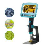 Оригинал 800X Portable USB Digital LCD Микроскоп 4.3 дюймов HD OLED 8 LED VGA камера Видеомикроскопы Пайка Лупа + Металлическая подставка