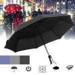 Оригинал Автоматическийзонтик1-2человекаПортативныйветрозащитный зонтик Кемпинг Три складных зонтика