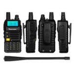 Оригинал QUANSHENG UV-R50 128 каналов 400 ~ 480 МГц Mini Ultra Light Dual Стандарты Handheld Радио Walkie Talkie
