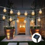 Оригинал 3.8M Солнечная Powered 10 LED Ананас Висячие лампочки String Light Рождество На открытом воздухе Party Patio Decor