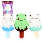 Оригинал Sanqi Elan Лягушка мороженого Squishy 12 * 6CM Медленное поднятие Soft Коллекция подарков для подарков с упаковкой