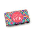 Оригинал ИмякартыКоробкаКомплектсигаретнойбумаги Двусторонняя цветная печать Сумка для кредитных карт Lady