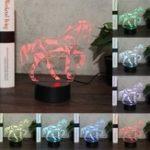 Оригинал ЛошадьЖивотное3DNightLightColorful LED USB Лампа потрогать Kids Gift LED USB Лампа