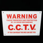 Оригинал A4 Warning Sign 24 Hour CCTV We Can See You Metal Sticker Security Safety Sign