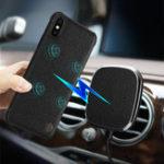 Оригинал NILLKINКожа5WQiБеспроводнаязарядка Мощный магнитный Авто Держатель с телефоном Чехол для iPhone X 8