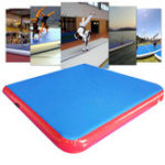 Оригинал 79 × 79 × 4inch Надувной GYM Air Track Mat Airtrack Gymnastics Mat Tumbling Восхождение Пилатес Pad