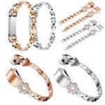 Оригинал Bakeey Металл Часы Fshion Diamond Стандарты Замена ремешка для Fitbit Alta / HR