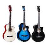 Оригинал 38 дюймов Acoustic Classic Музыкальный инструмент для гитарного бас-гитары для начинающих Студент