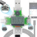 Оригинал Bakeey 2 in 1 Type C Тестер измерителей мощности USB тестера LCD Digital Мультиметр Измеритель напряжения тока