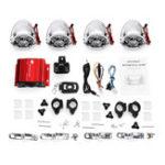 Оригинал мотоцикл Усилитель Система ATV + 4 хром-громкоговорителя с функцией Bluetooth