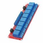 Оригинал 12V 8-канальный релейный модуль с оптоволоконным триггером для Arduino
