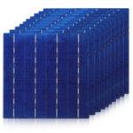 Оригинал 156MM Polycrystallie Солнечная Ячейка Солнечная Элемент панели с панелью с шиной Провод Для DIY Солнечная Панель