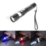 Оригинал XANESMT01T6Красныйсинийсигнальный свет USB аккумуляторная LED Фонарик Кемпинг Лампа Рыбалка Охотничий свет