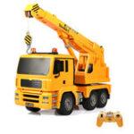 Оригинал ДвойнойEagleE516-0031/202.4GRc Авто Инженерный кран грузовик 360 ° вращения W / Light Sound Toys