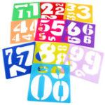 Оригинал 10Pcs Пластиковые номера Шаблон Craft Рисование Живопись Трафаретная доска Правитель Set Board