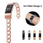 Оригинал Bakeey Нержавеющая сталь Металлическая сталь Замена роскошных часов Smart Watch Стандарты для Fitbit Charge 2
