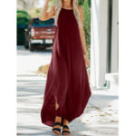Оригинал Женское Сексуальный Твердый цвет с длинным рукавом Нерегулярный чехол Платье
