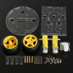 Оригинал 3Pcs / Pack 2WD Round Double-Deck DIY Smart Chassis Авто DIY Набор Для Arduino