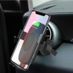 Оригинал Qi Беспроводное зарядное устройство 9V Быстрое зарядное устройство Авто Зарядное устройство для вентиляции воздуха для iPhone 8 / 8P iPhone X