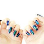 Оригинал 24Pcs Зеркало Металлические цвета Fake Ногти Советы