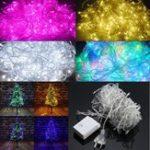 Оригинал AC220C AU Plug 8 режимов 10M 100 LED Fairy String Light Рождественская вечеринка Holiday Decor Водонепроницаемы