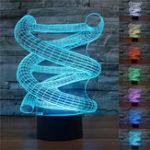 Оригинал НовинкаДНК3DСпиральНочнойсвет 7 Изменение цвета LED Таблица Лампа Игрушечный подарок