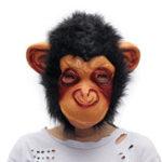 Оригинал Halloween Для взрослых Animal Chimp Monkey Ape Маска Необычный Платье Костюм для вечеринок