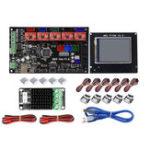 Оригинал Материнская плата контроллера MKS-GEN L + TFT28 LCD Дисплей + MOS Модуль Набор с 5Pcs drv4988 и конечным выключателем для 3D-принтера Ramps 1.4