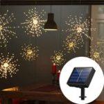 Оригинал Солнечная Powered 120LED 8 режимов IP65 DIY Фейерверк Starburst Fairy String Рождество Свадебное Light DC2V