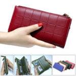 Оригинал Женское Мода PU кожаная молния сумка длинный кошелек для Samsung Xiaomi мобильный телефон под 5.5 дюймов