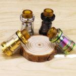 Оригинал 24 мм RTA из нержавеющей стали Atomizer Электронная сигарета распылитель Регулируемая сигарета с воздушным потоком Чехол