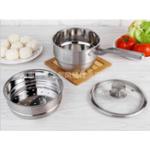 Оригинал 2 Tier 304 Пароварка из нержавеющей стали Пакетировочная суп-кастрюля Индукционная универсальная посуда