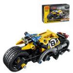 Оригинал DECOOL Technic Stunt Bike Building Blocks Игрушки Кирпичи Дети Модель Детские игрушки Совместимость Legoe