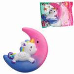 Оригинал Галактика Squishy Unicorn Moon медленно растет с коллекцией подарков Подарочный декор Ароматизированная игрушка