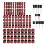 Оригинал Drillpro 132шт 80 Grit 1/4 3/8 1/2 дюймов Шлифование Стандарты с шлифовальным оправо Rotary Инструмент Принадлежности