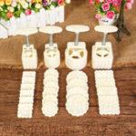 Оригинал 4 Наборы для молотого пирога Пресс-пресс 100г 50г DIY Цветок Шаблон Mold Decor C 20 марок Круглый квадрат