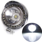 Оригинал мотоцикл Angel Eye Fog COB LED Фары Лампа Для Harley Чоппер Bobber Cruiser
