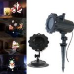 Оригинал ARILUX® 12 Шаблоны 4 LED Дистанционный Санта-Клаус Рождество Перемещение Лазер Проектор Ландшафтный свет сцены