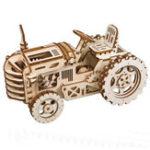 Оригинал DIY Деревянные Механический комплекты Gears 3D Трактор Головоломка Логические игрушки Исполнительный стол Игрушки День рождения