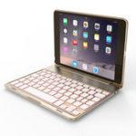 Оригинал 7 Цвета с подсветкой Алюминий Bluetooth Клавиатура Kickstand Чехол Для iPad Mini 2/iPad Mini 3