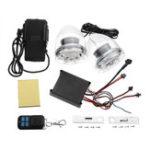 Оригинал мотоцикл Звуковая система аварийного сигнала Усилитель Динамики MP3 Противоугонная система + FM + usb / sd