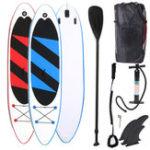 Оригинал Наоткрытомвоздухе10.5ftНадувнойсерфинг Set Stand Up Регулируемое седло Surf Лодка Wave Ride Water Sports SUP Board