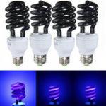 Оригинал E27 15W 20W 30W 40W Фиолетовая флуоресцентная лампа CFL Lightlight Лампа AC220V