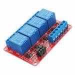 Оригинал 5V 4-канальный релейный модуль с оптоволоконным триггером для Arduino
